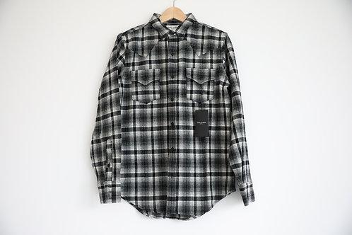 Saint Laurent Paris Checked Wool Shirt