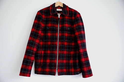 Saint Laurent Paris Wool Checked Jacket