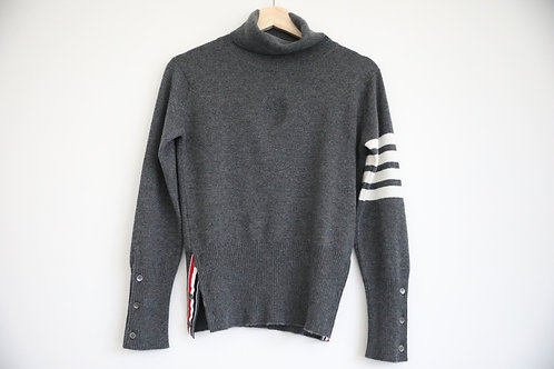 Thom Browne 4-Bar Cashmere Turtle Neck
