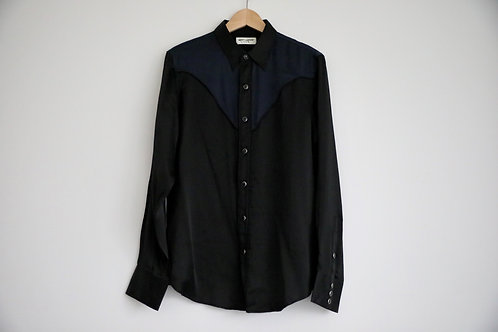 Saint Laurent Paris Silk Button-up Shirt