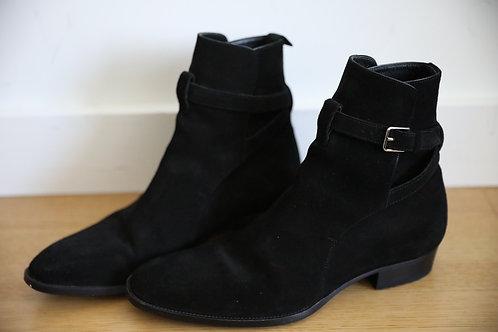 Saint Laurent Paris Suede Wyatt Boots