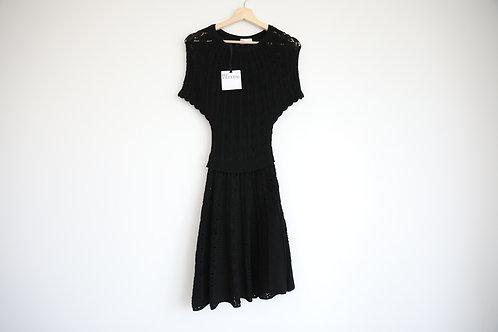 Red Valentino Black Wool Dress