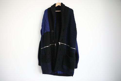 Alexander McQueen Heavy Wool Zipped Cardigan