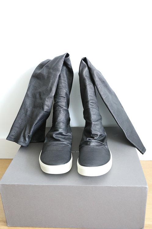 Rick Owens Lambskin Knee Boots