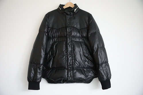 Saint Laurent Pairs Leather Trimmed Goose Down Jacket