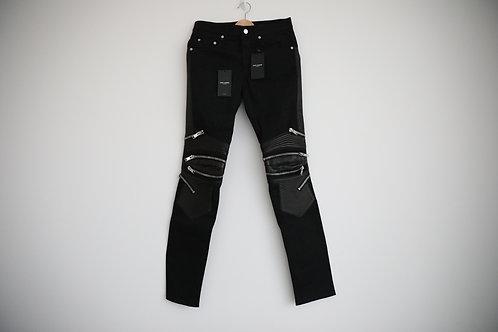 Saint Laurent Paris Zipped Biker Jeans