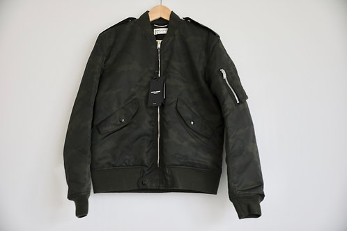 Saint Laurent Paris Camouflage MA-1 Jacket