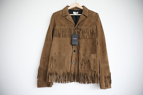 Saint Laurent Paris Fringed Suede Jacket