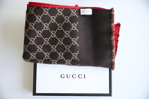Gucci Wool-Silk Monogram Scarf