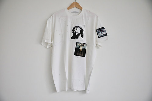 Givenchy Distressed Jesus Patch T-shirt