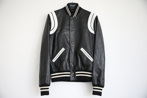 Saint Laurent Paris Leather Teddy Jacket