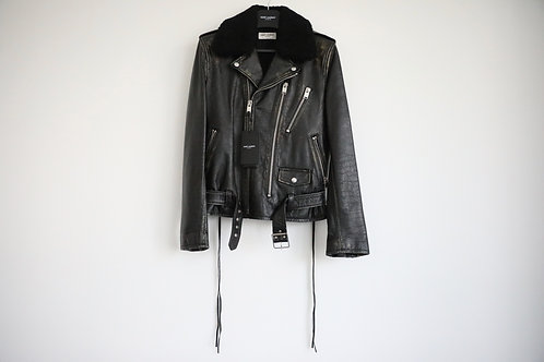 Saint Laurent Paris L17 Shearling Lambskin Leather Jacket
