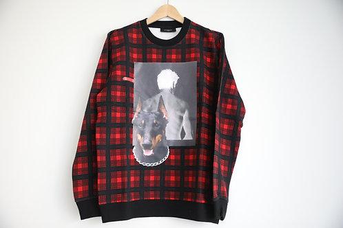 Givenchy Tartan Doberman Sweatshirt