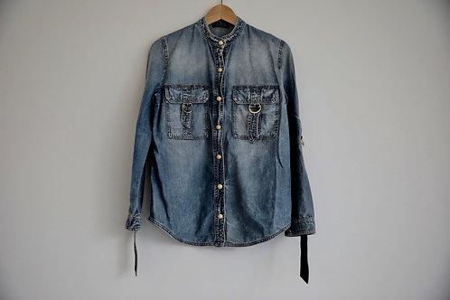 Balmain Detailed Button-up Denim Shirt