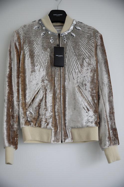 Saint Laurent Paris Crystal Velvet Jacket