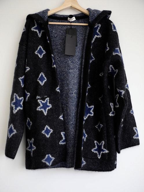 Saint Laurent Paris Star Hooded Cardigan