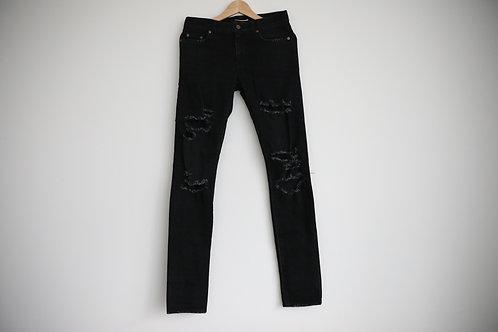 Saint Laurent Paris D02 Distressed Skinny Jeans