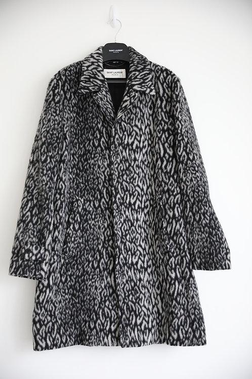 Saint Laurent Paris Leopard Coat