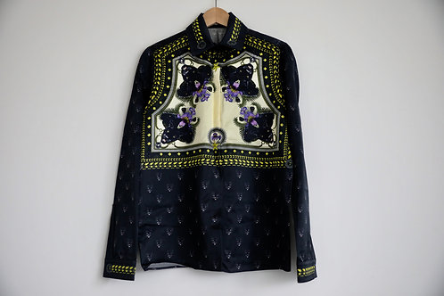 Givenchy Panther Silk Button-up Shirt