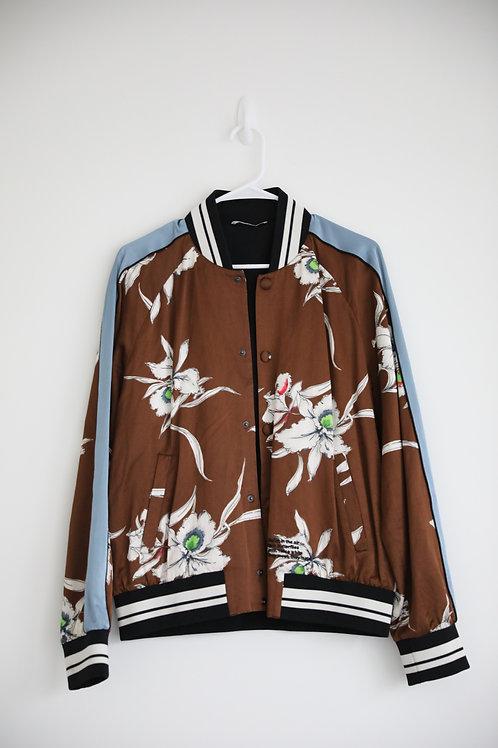 Valentino Floral Print Silk Jacket