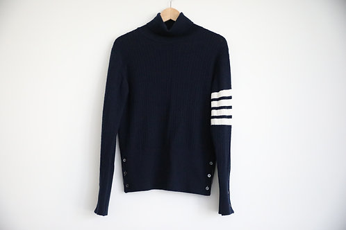 Thom Browne Cashmere 4-Bar Turtle Neck Pullover