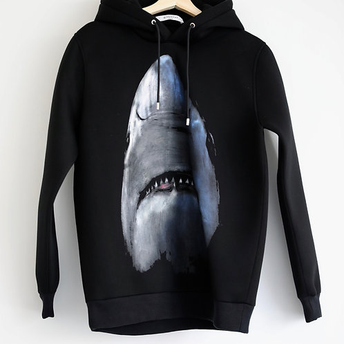 Givenchy Neoprene Shark Print Hoodie