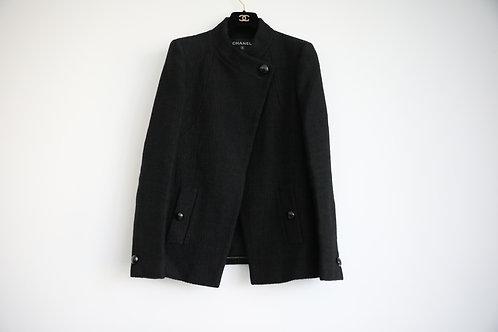 Chanel 15P Tweed Asymmetric Blazer
