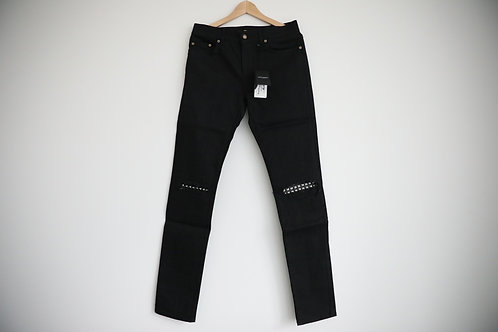 Saint Laurent Paris D02 Knee Distressed Studded Jeans