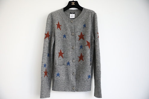 Chanel Dallas Cashmere Metal Star Cardigan