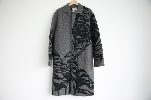 Valentino Embroidered Wool-Cashmere Blended Cardigan
