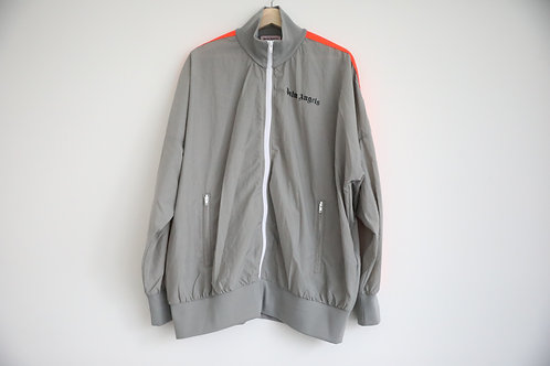 Palm Angels Grey Striped Windbreaker