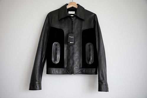 Saint Laurent Paris Zip-up Jacket