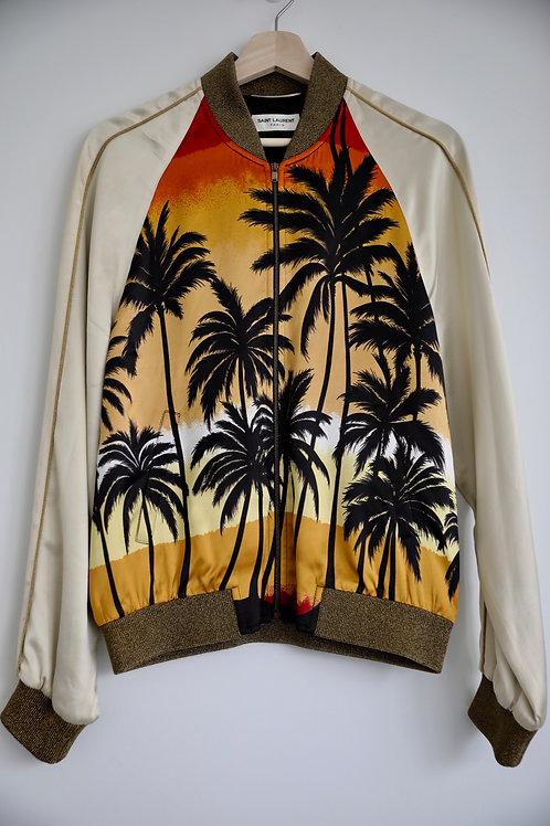 Saint Laurent Paris Palm Tree Silk Jacket