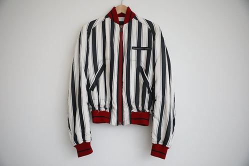 Haider Ackermann Stripped Distressed Silk Jacket