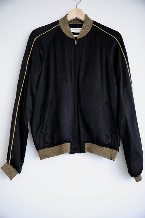 Saint Laurent Paris Gold Silk Jacket
