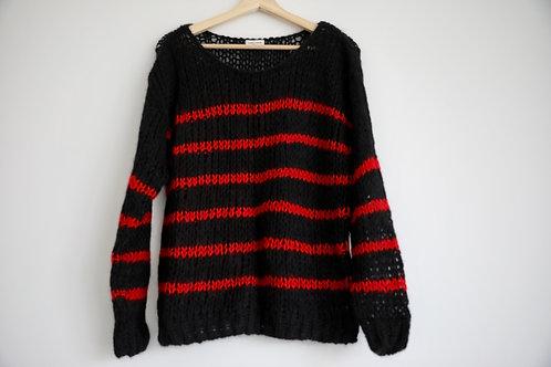 Saint Laurent Stripes Mohair Sweater