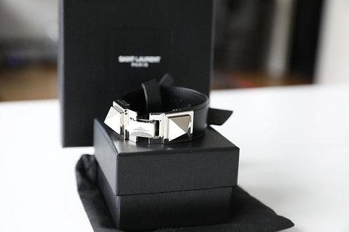 Saint Laurent Paris Leather Bracelet
