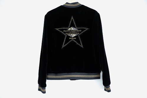 Saint Laurent Paris Palladium Velvet Jacket