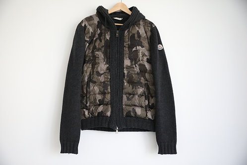 Moncler Camouflage Hooded Wool Jacket