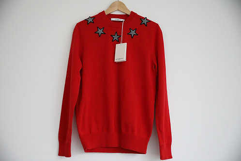 Givenchy Red Star Sweater