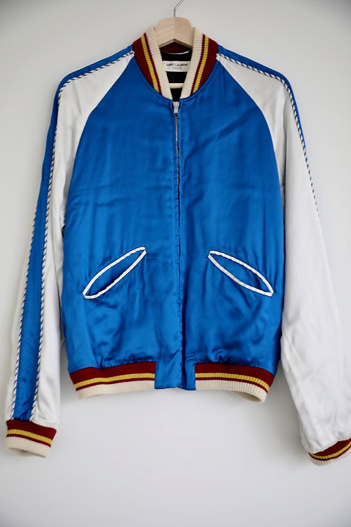 Saint Laurent Paris Blue Silk Jacket