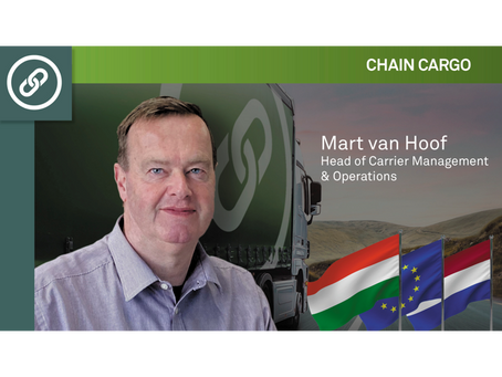 Interview with Mart van Hoof, Head of Carrier Management & Operations at ChainCargo