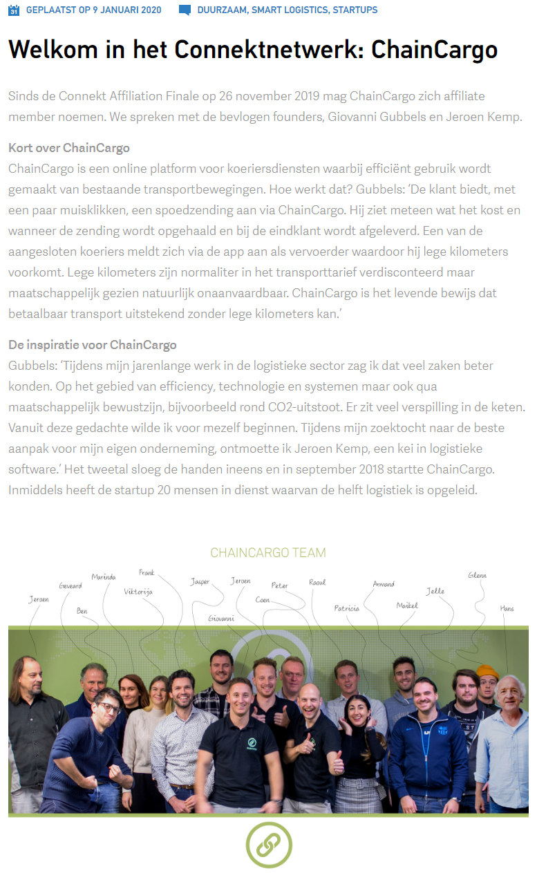 ChainCargo joins Connekt Network