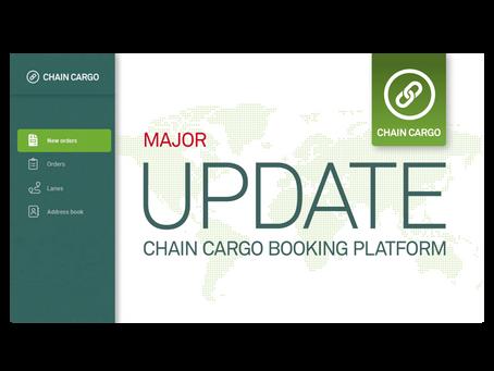 New features on ChainCargo platform