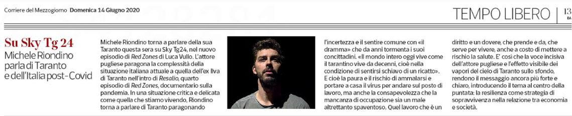 Corriere del Mezzogiorno Puglia 14 giugn