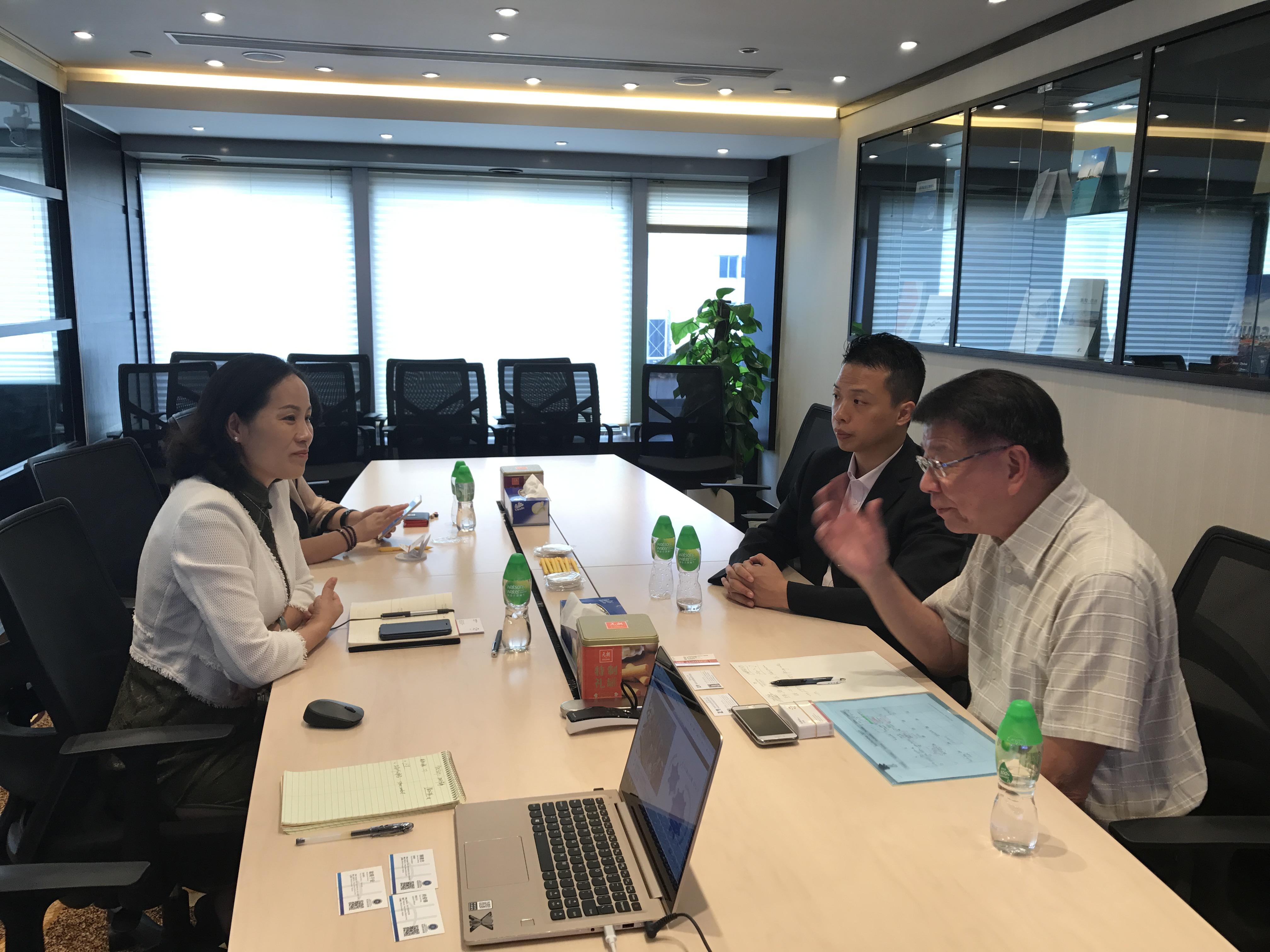 Meeting with Zhu Hai representative