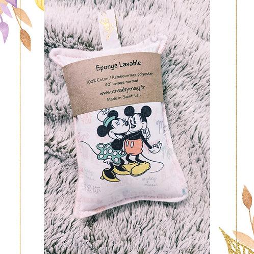 """Eponge Lavable """"Minnie love Mickey"""""""