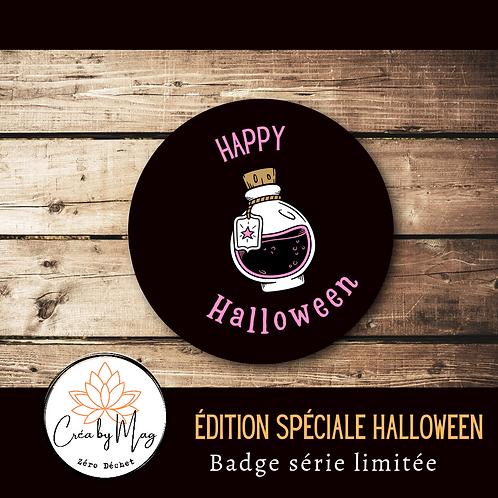 Badge Halloween motif Potion