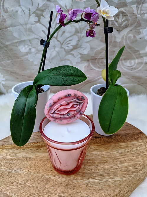 Fondant parfumé en forme de choupette ( 2 parfums au choix)