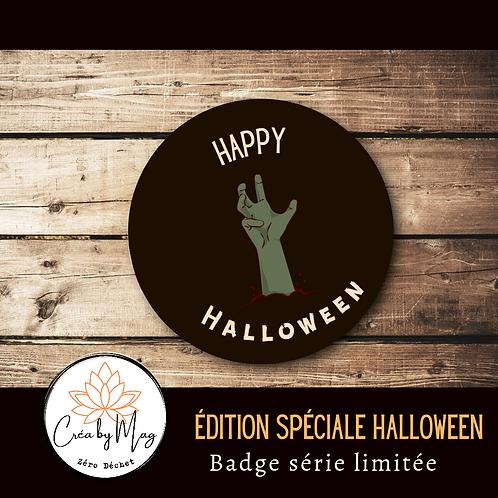 Badge Halloween motif Zombie